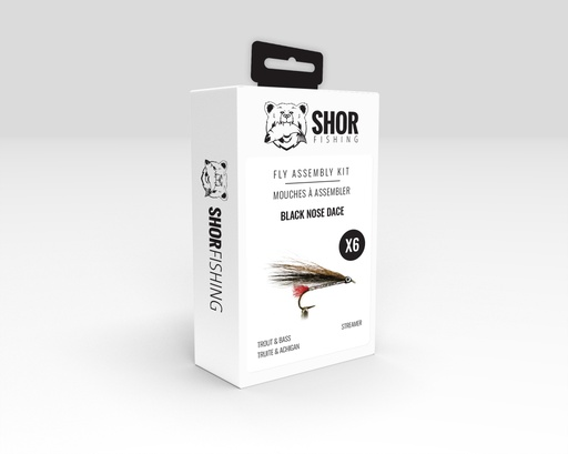 [SHFKT06] SHOR - FLY KIT - BLACK NOSE DACE