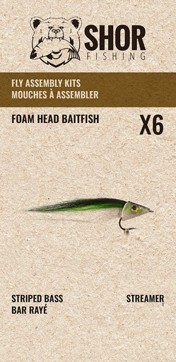 [SHFKB02] SHOR - FLY KIT - FOAM HEAD BAITFISH