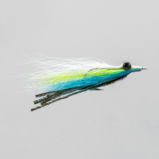 [055-330604] NEPTUNE FLIES - Turquoise Clouser Minnow #4 (SALTWATER)